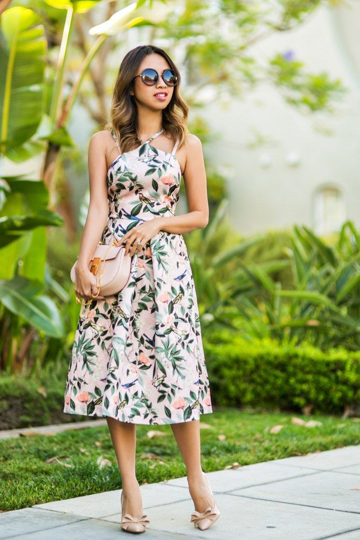 Ace And Locks Pee Fashion Blogger Fl Midi Dress Wedding Guest