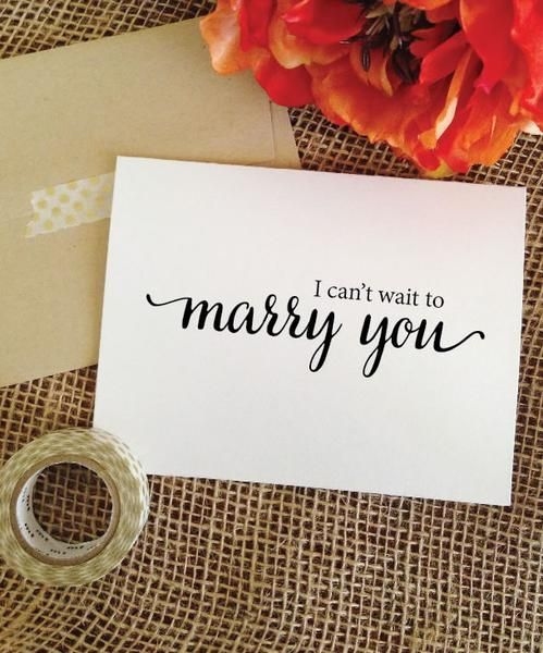 i can t wait to marry you card for groom card for bride groom gift
