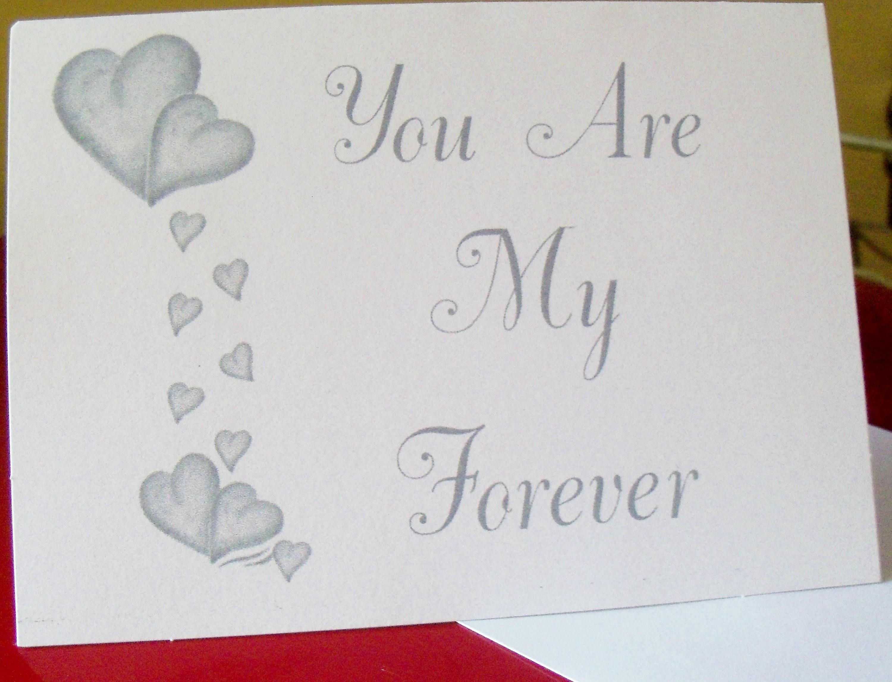 Anniversary card love greeting cards blank cards love note