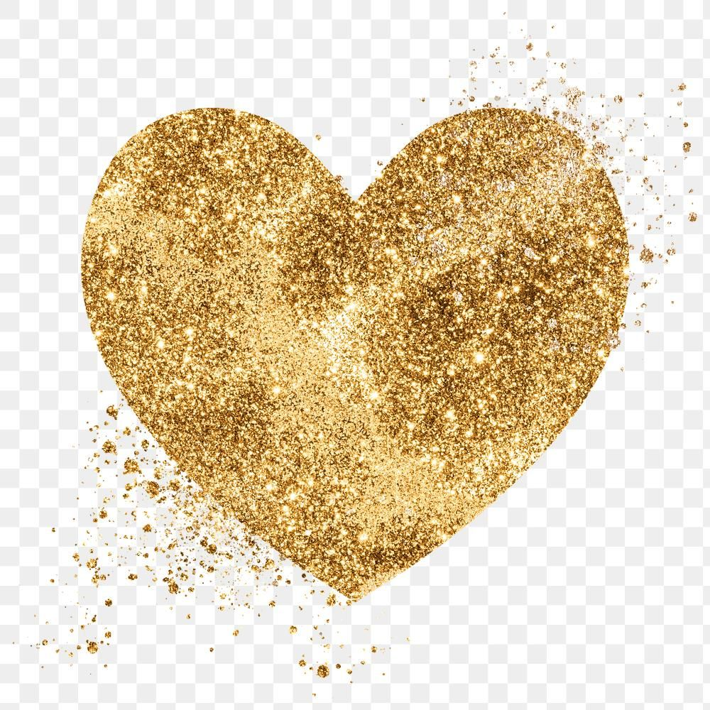 Glitter Png Gold Heart Symbol Free Image By Rawpixel Com Adjima In 2021 Gold Glitter Heart Heart Symbol Glitter Hearts