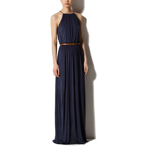 84f987a09704 Massimo Dutti Long Halter Neck Dress - Snag the perfect warm weather halter  dress for under $100