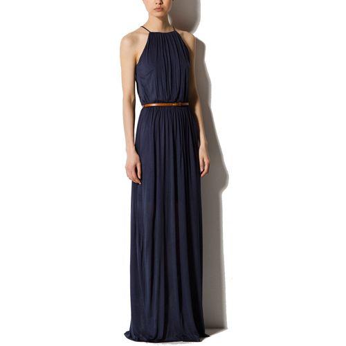 Massimo Dutti Long Halter Neck Dress - Snag the perfect warm ...