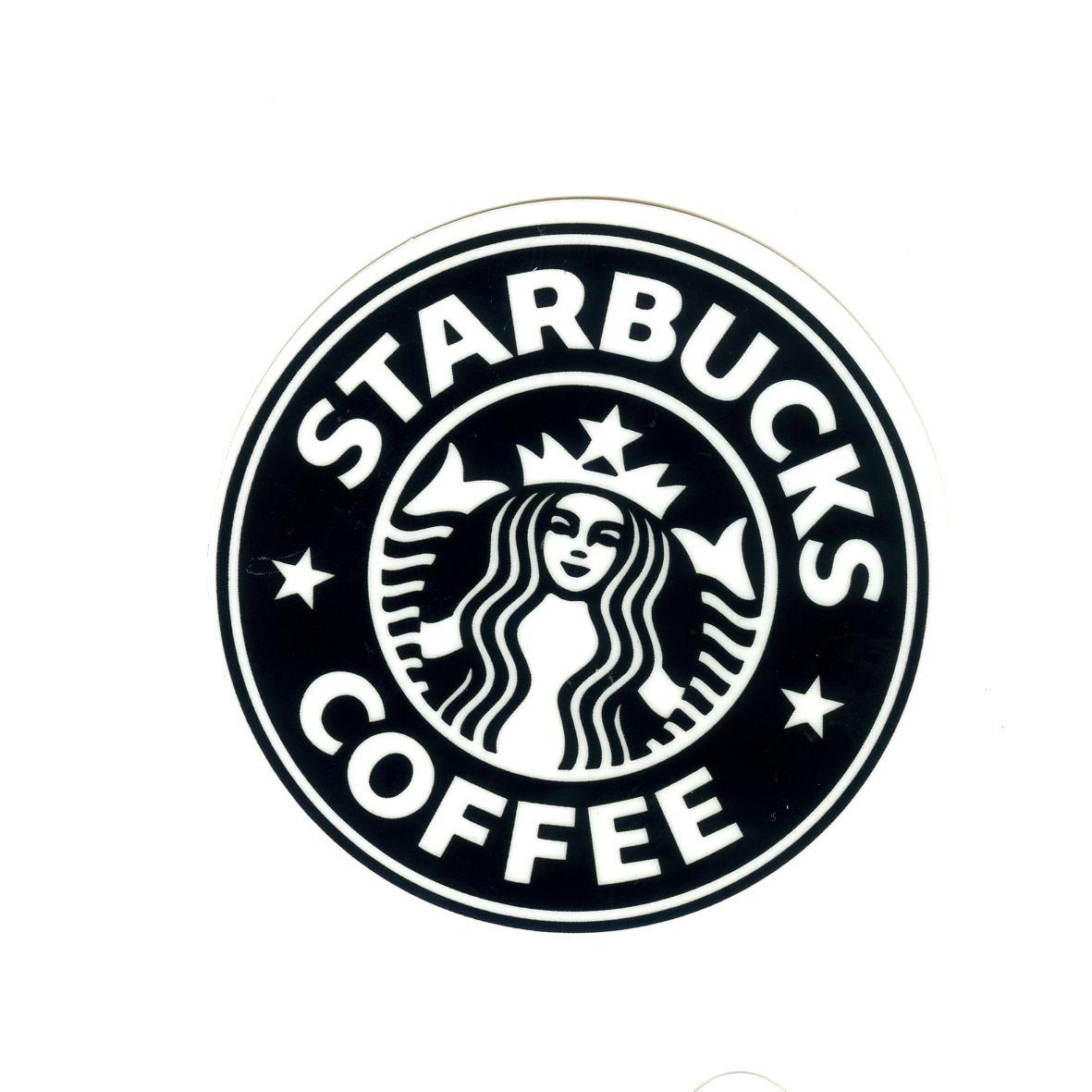 1349 Starbucks Black Special Logo Height 7 Cm Decal Sticker Decalstar Com Black And White Stickers Print Stickers White Stickers