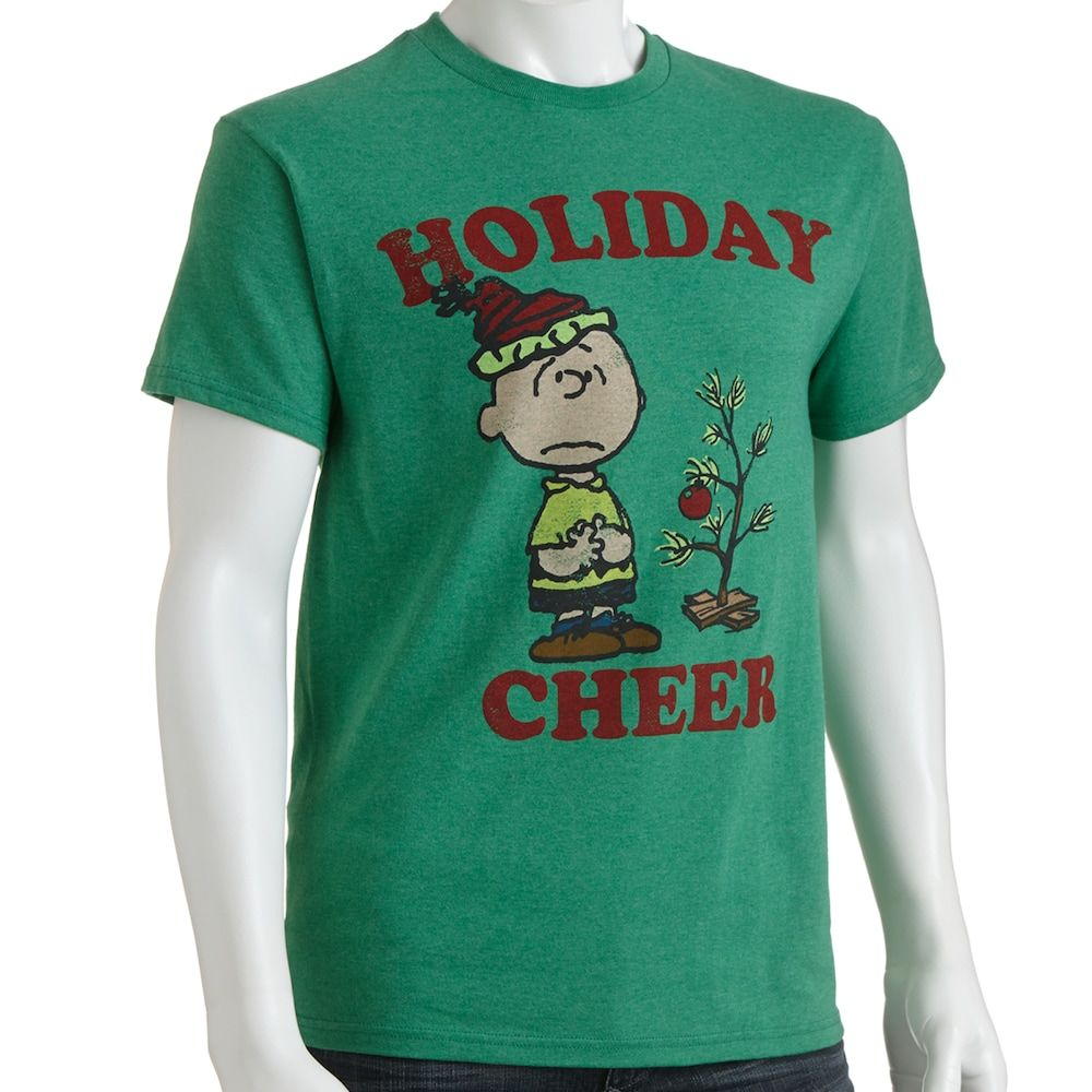 "Peanuts Charlie Brown ""Holiday Cheer"" Tee Men Mens"