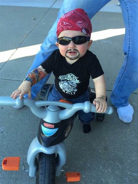 11 funny free kid costumes made from stuff around the house  sc 1 st  Pinterest : biker baby costume  - Germanpascual.Com
