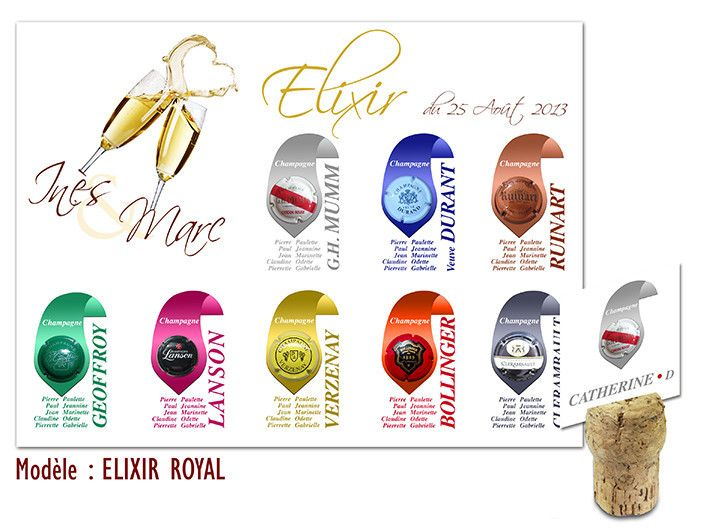 Plan de table mariage elixir royal th me gourmandise for Deco table gourmandise