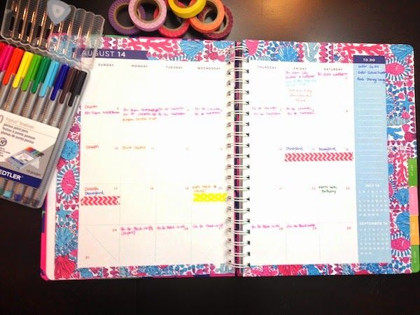 How To Organize Your Lilly Pulitzer Agenda