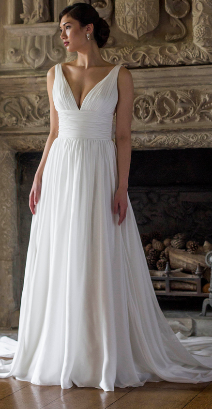 Simple Wedding Dresses No Lace