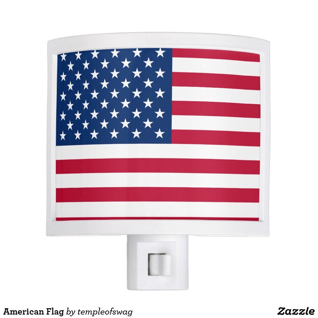 American Flag Night Light Zazzle Com Night Light American Flag Flag