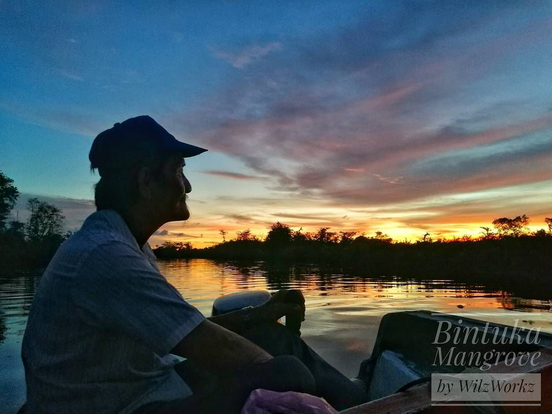 Bintuka Mangrove is a nature photographer's heaven as our boatman watches the sun sets.  #travel #traveling #vacation #visiting #traveler #instatravel #instago #instagood #trip #holiday #photooftheday #fun #travelling #tourism #tourist #instapassport #instatraveling #mytravelgram #travelgram #travelingram #igtravel #travelblog #travelblogger #WilzWorkz #travelthruthelens