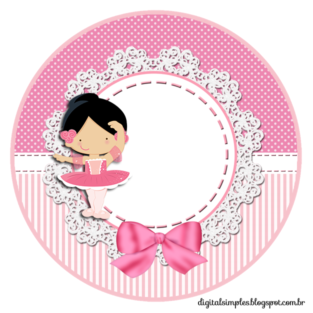 Kit Custom Theme Ballerina Pink For Printing Invitations