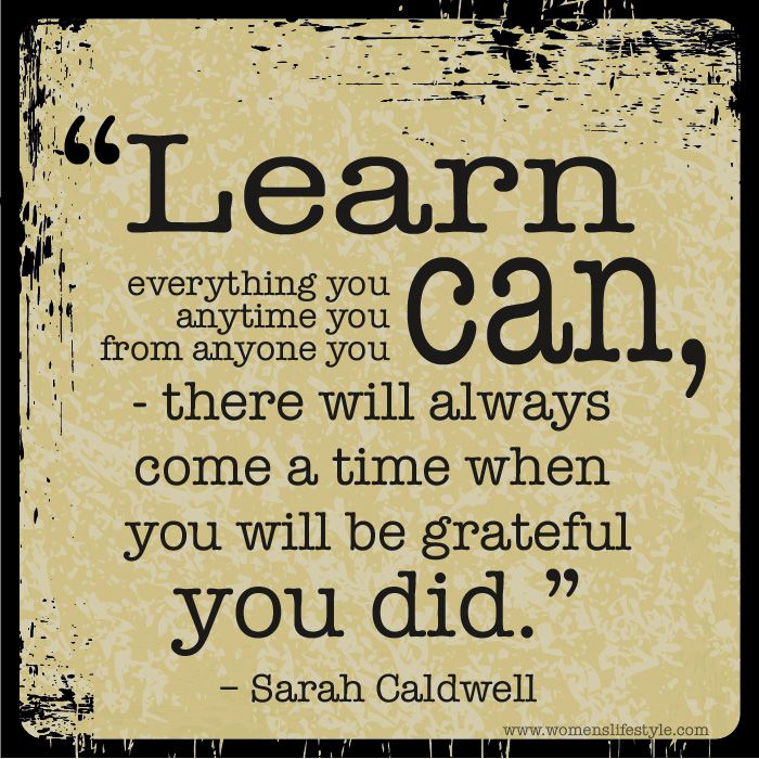 Quotes On Learning Magnificent Learn Everything You Can Anytime You Can From Anyone You Can . Inspiration