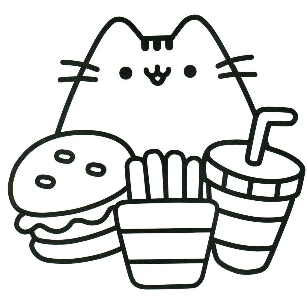 Para Colorear Kawaii In 2020 Pusheen Coloring Pages Unicorn Coloring Pages Kitty Coloring