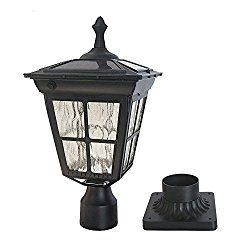 Kemeco St4311aq 6 Led Cast Aluminum Solar Post Light Fixture With 3 Inch Fitter Base For Outdoor Garden Post Pole Mount Lamp Post Lights Post Lights Solar Post Lights