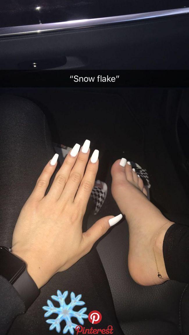 Pinterest/ RyNoelle | Gel nails, White acrylic nails, Toe ...