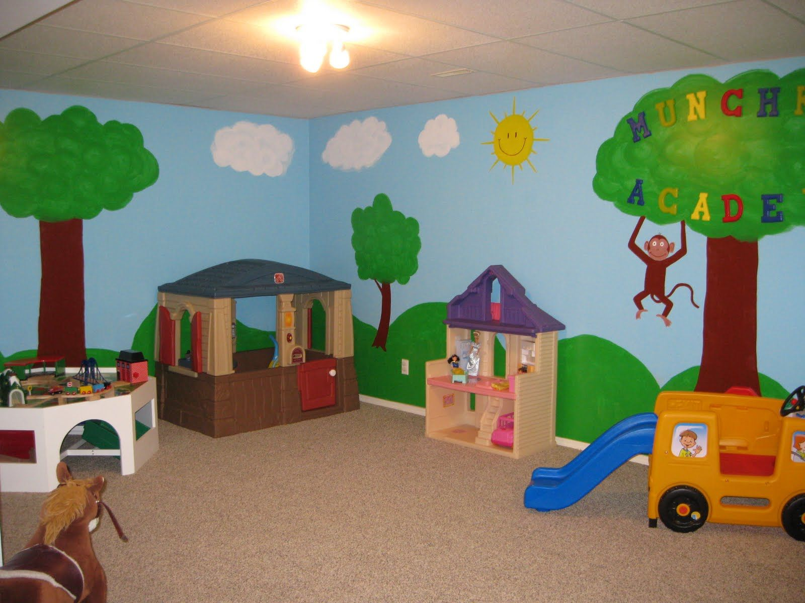 Toy Room Paint Ideas Basement Remodel Pinterest