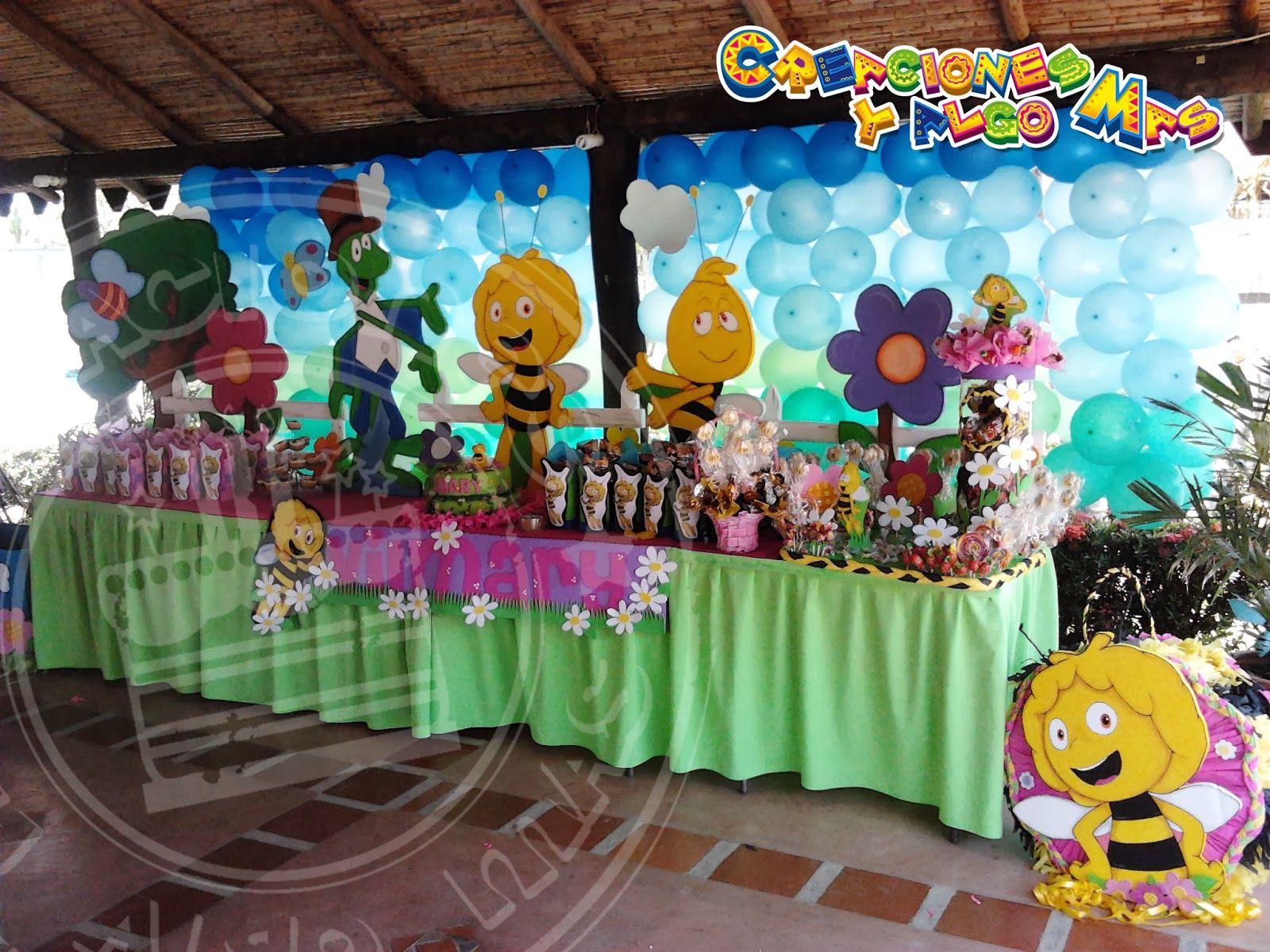 Creaciones y algo mas fiesta la abeja maya maya bee for Decoraciones para fiestas