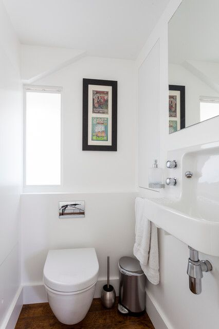 Small powder room with barbican sink bathrooms - Small powder room sink ...
