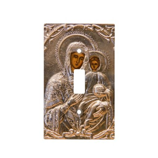 Orthodox Icon Light Switch Covers Jesus Christ And His Mother Mary