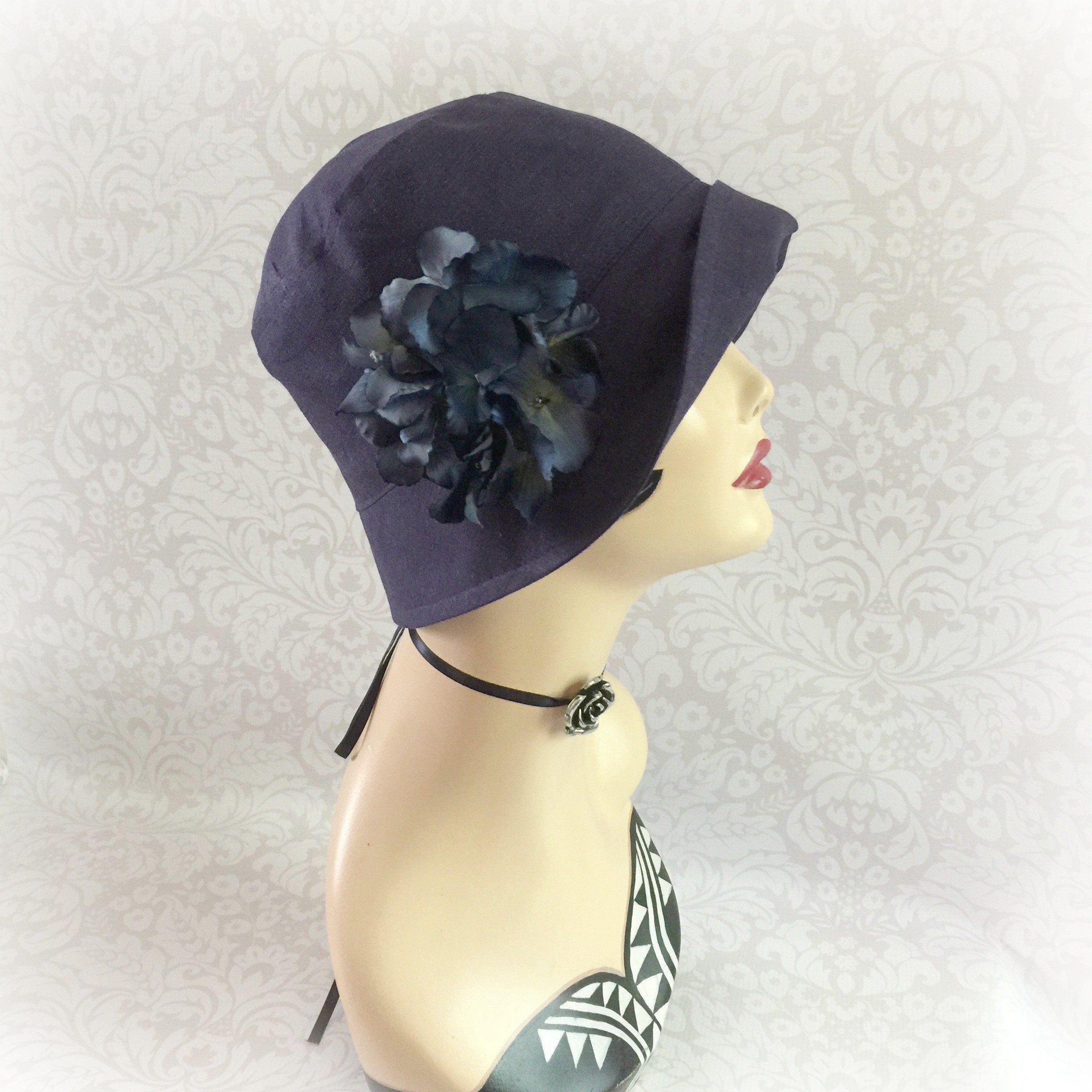 632ff05fca42c Linen Bucket Hat 1920's Flapper Style | The Eleanor Cloche ...