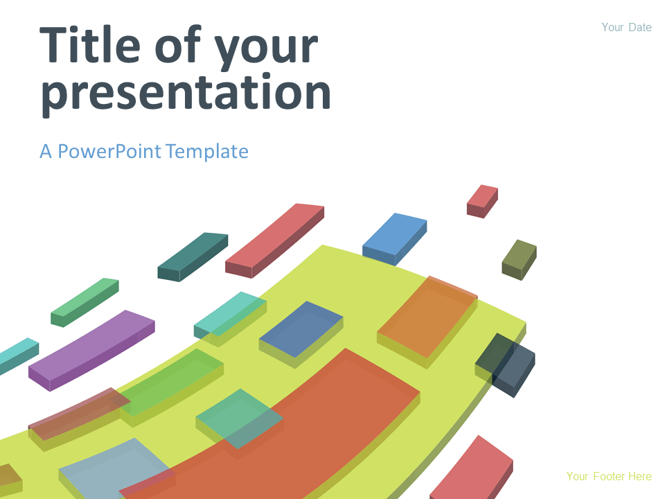 Free Modern Abstract Powerpoint Template Colorful Flying D