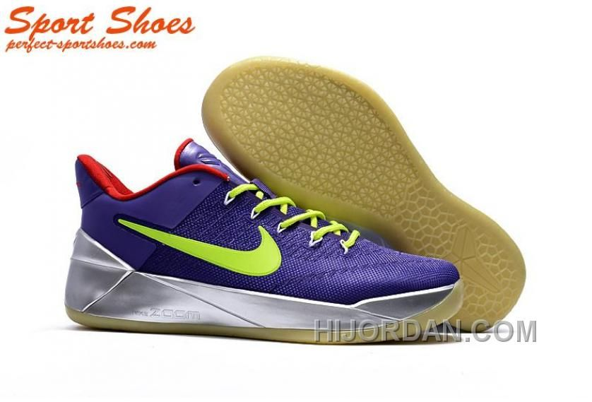 740ddd3f8374 Nike Kobe A.D. Sneakers For Men Low Silver Purple Green New Style ...