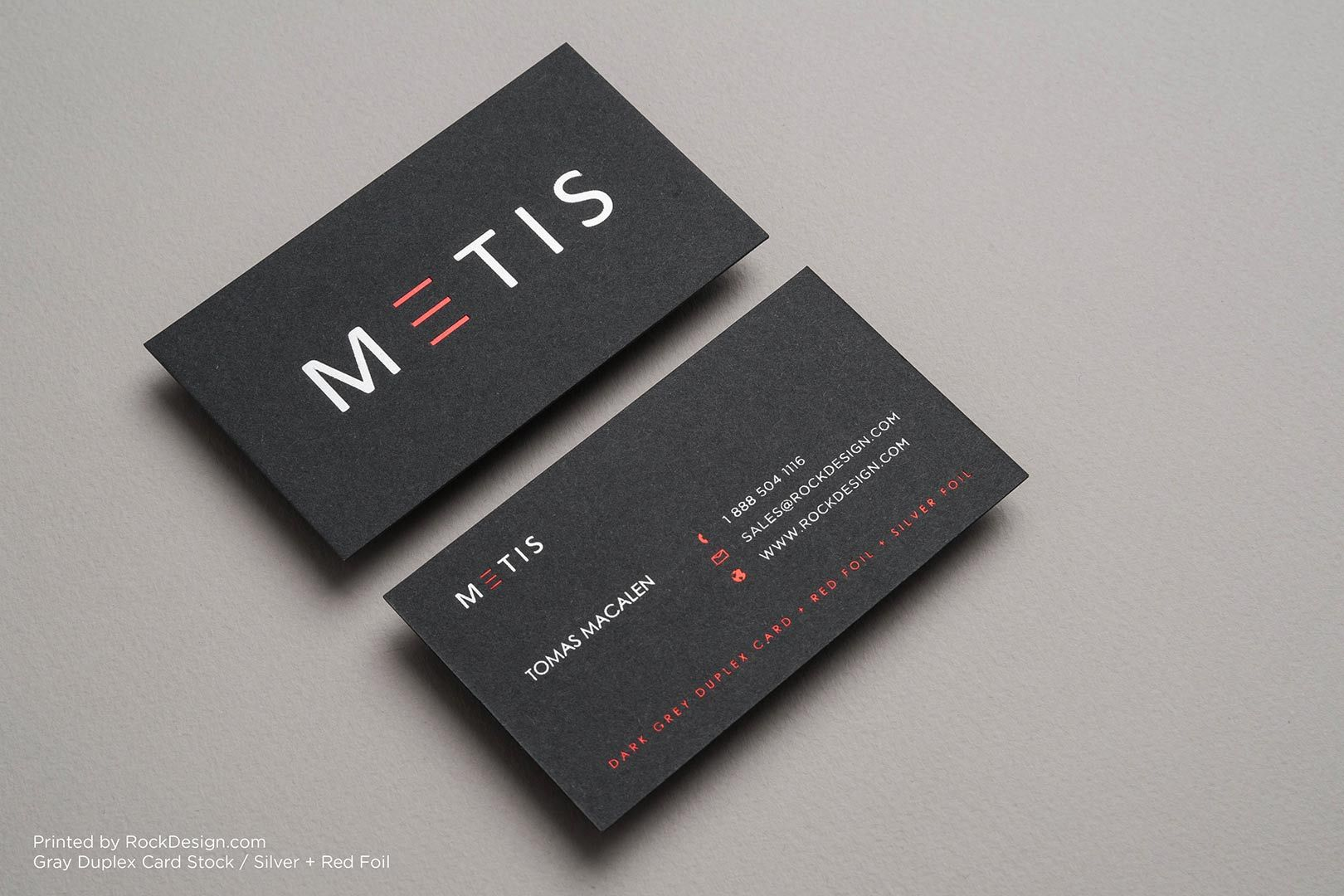 Gray Business Cards | RockDesign Luxury Business Card Printing ...