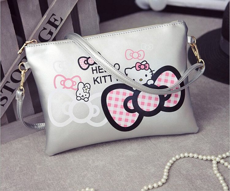 Women Hello Kitty Messenger Bags Minnie Mickey Bag Leather Handbags Clutch  Bag 9b4d8d3872