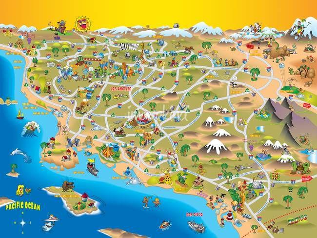 Southern California Map   Southern California   California, Southern ...