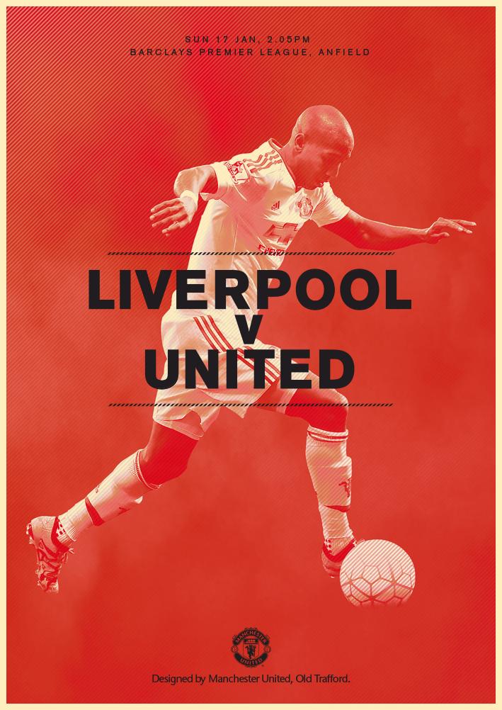 Match Poster Liverpool V Manchester United 17 January 2016 Designed By Manutd Manchester United Liverpool Manchester