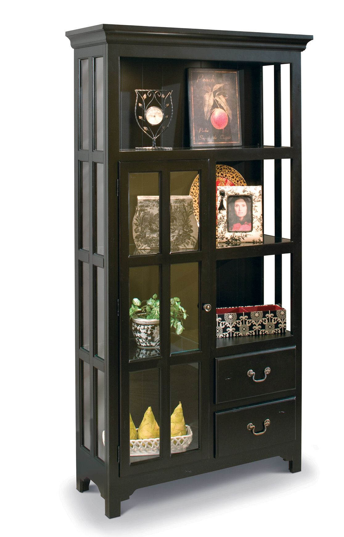 ColorTime Lighted Curio Cabinet