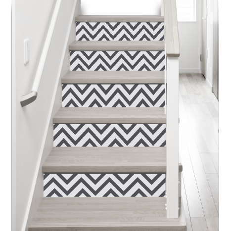 adh sifs pour contremarches d 39 escalier stickers contremarche d coration escalier chevrons. Black Bedroom Furniture Sets. Home Design Ideas