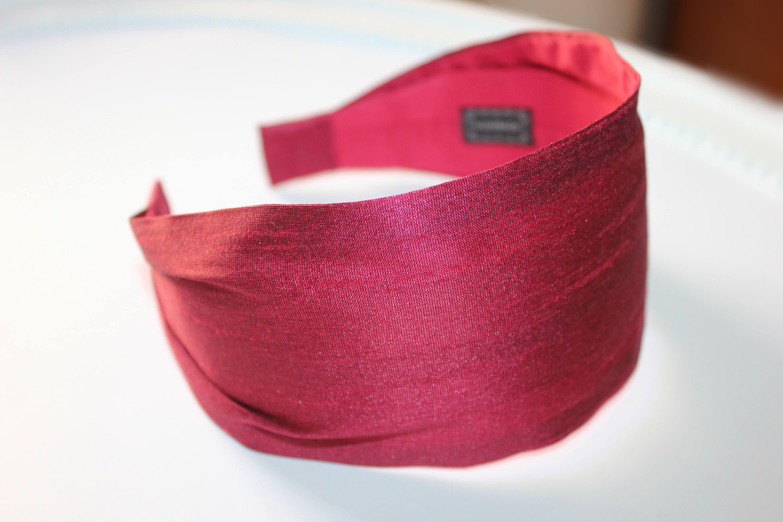 Burgundy silk headbands for women adult headband Hair Loss Head Scarf hair  bands silk hair scarf silk hairband Extra wide women headbands by  HeadBandsDeLuxe ... dc05bcefbca