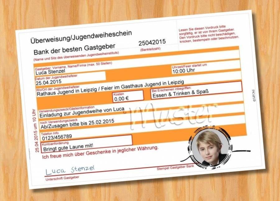 einladung einladungskarten jugendweihe muster 15 - bild vergrößern, Einladungskarten