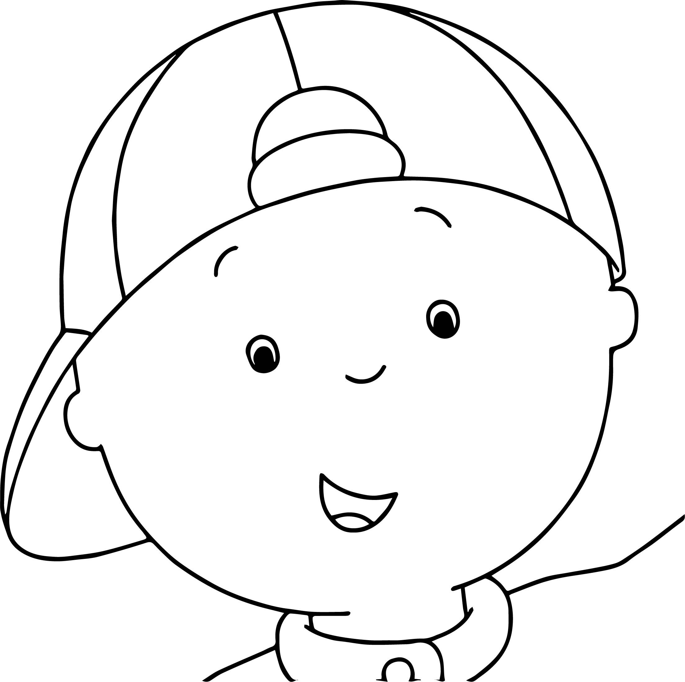 awesome Caillou Face Coloring Page Coloring pages, Caillou