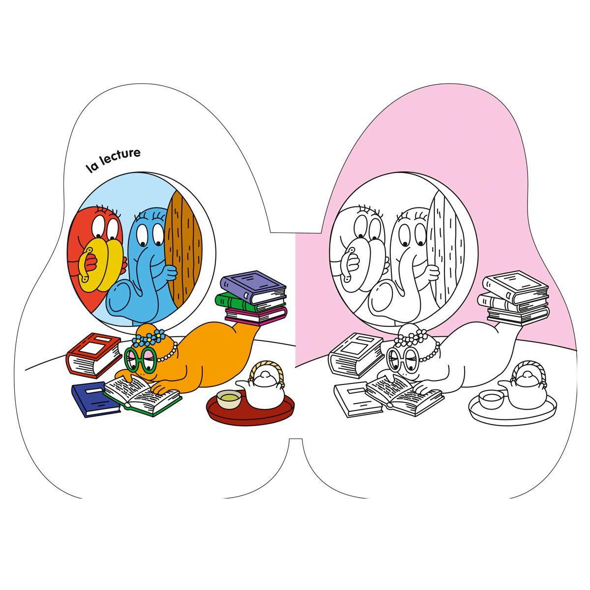 Livre Barbapapa Mes coloriages pour enfant de 2 ans à 5 ans - Oxybul ...