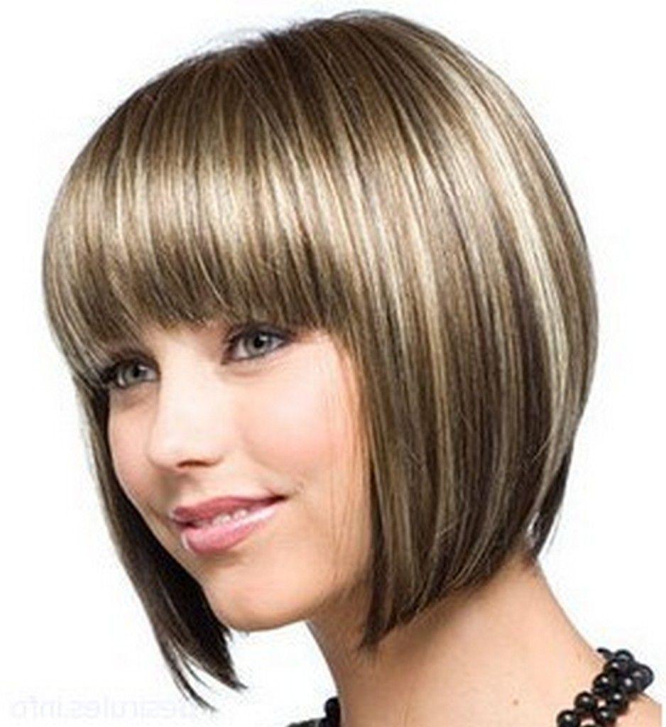 Фото причесок на средние волосы с челкой и мелированием 54