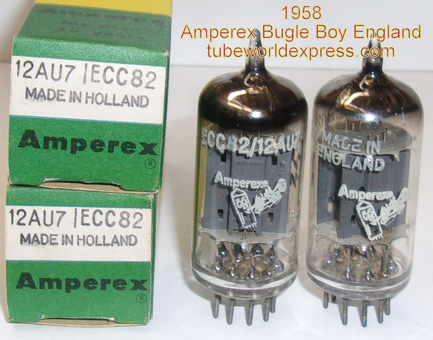 1 12au7 Bugle Boy Pair 12au7 Amperex Bugle Boy England Long Vacuum Tube Tube England