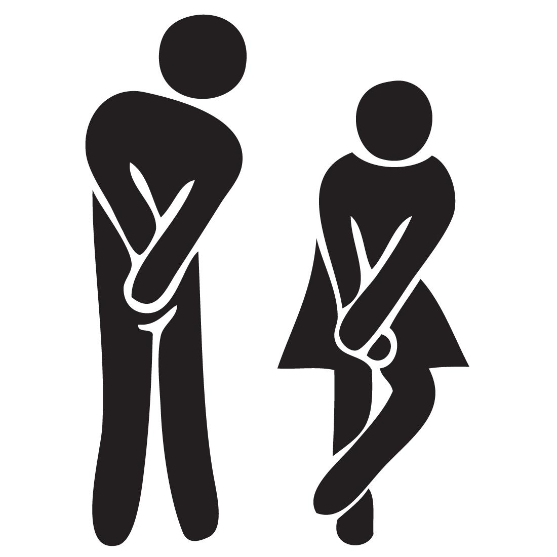 Adhesivo De Vinilo Toilet Wc Senalizacion Bano Para Bares Y