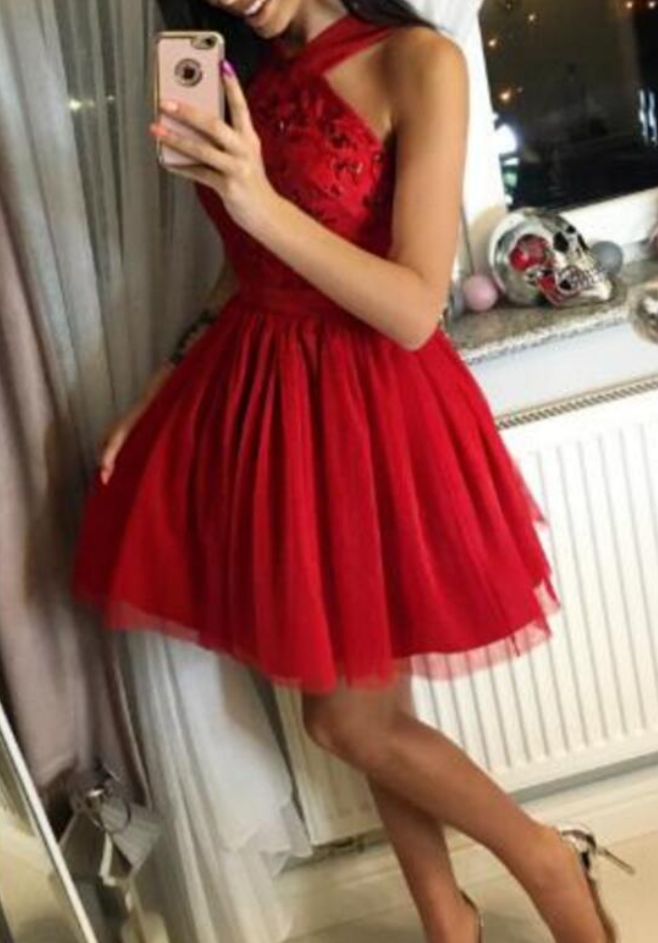 58b05ee0233 Red Short Homecoming Dresses