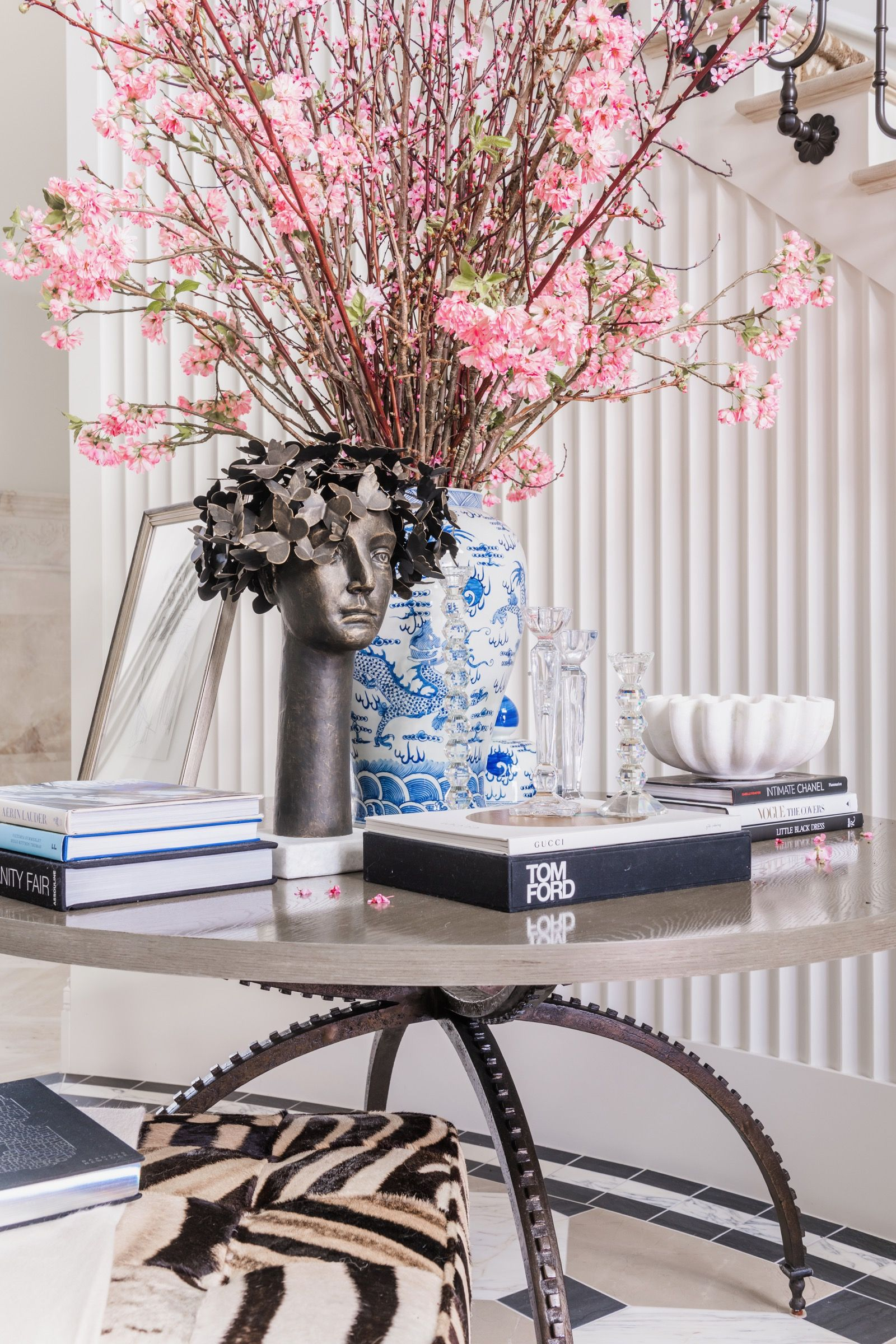 Entry Way Reveal Coffee Table Books Decor Painting Trim