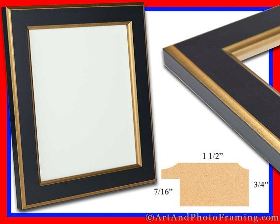 Large Black with Gold Photo Frame 1.25 Wide by ArtAndPhotoFraming ...