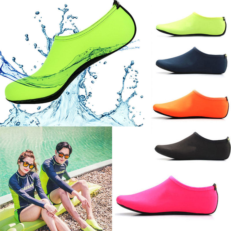 fdf7fdbf0d51 Men Women Skin Water Shoes Aqua Beach Socks Yoga Exercise Pool Swim ...