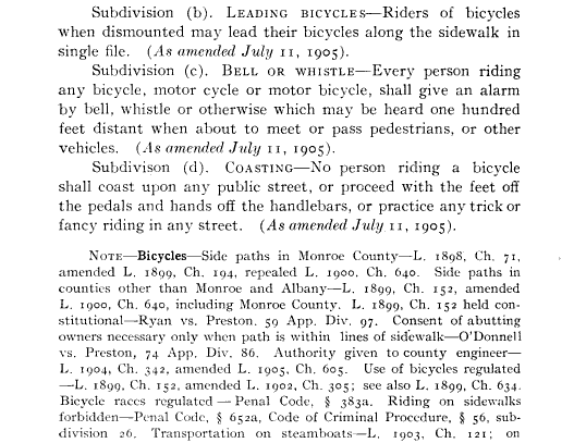 Municipal Code of the City of Rochester, Vol II: Containing a codification of all local ordinances, rules and regulations in force, January 1, 1907 ( ), p. 152.
