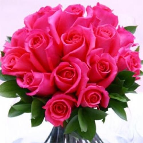 Wedding Center Piece Royal Dark Pink Roses 6 With Images
