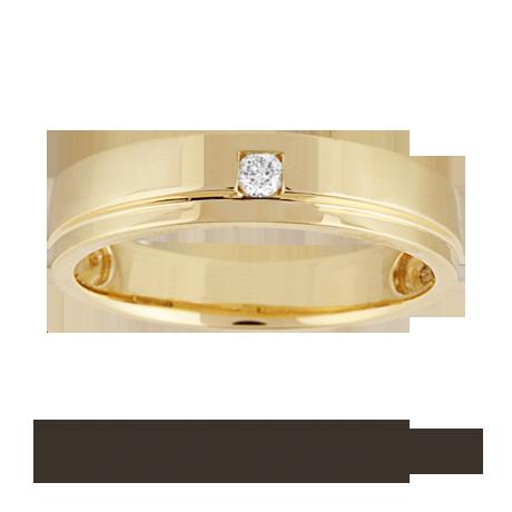 Ladies diamond set wedding ring in 18 carat yellow gold