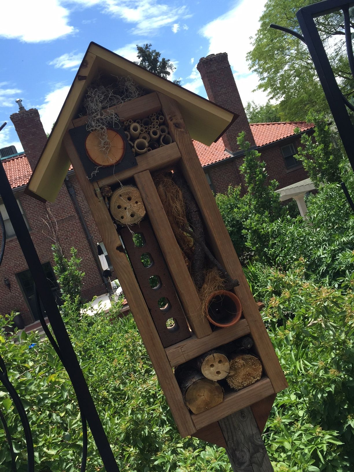 Insect hotel Denver Botanic Gardens July 2016 (With