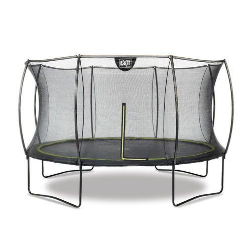 Näppärä 3,7 trampoliini suojaverkolla. Musta tyylikäs malli kaarevilla turvakehän putkilla- Exit Silhouette on täydellinen valinta lapsille! Tutustu http://www.tasapeli.fi/product/436/trampoliini-exit-silhouette-37m-turvaverkolla