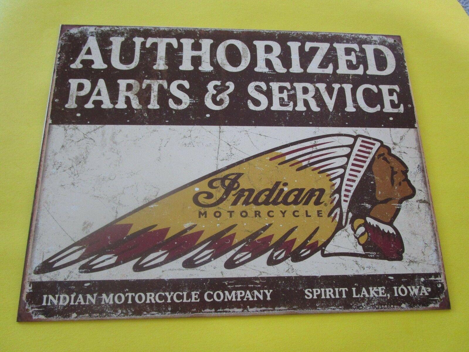 tin metal motorcycle cycle bike repair shop service garage dealer decor indian $14.98