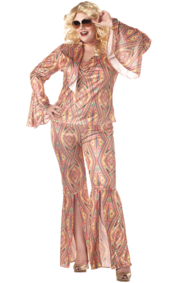 Womens Discolicious 70s Costume Plus Size 70s Disco Party